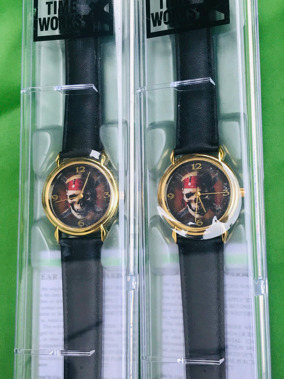Authentic Disney Pirates of the Caribbean Collectors Series Watch Set of 2