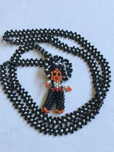 Vintage Handmade Beaded Native American Indian Chief