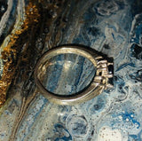 Vintage 925 Sterling Silver and Genuine Sapphire Ring Size 7.25