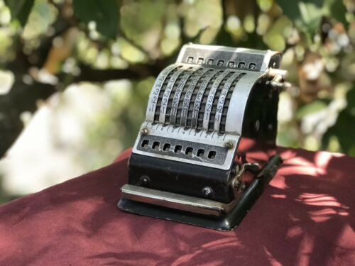 Antique Desk Top Calculator Adding Machine Resulta 7 made in West Germany