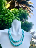 Jay King DTR Mine Fine Turquoise Graduated Nugget Sterling Silver 925 Necklace