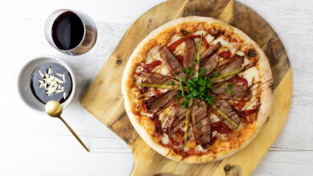 Peking Duck Stone Baked Pizza and Wine Combo