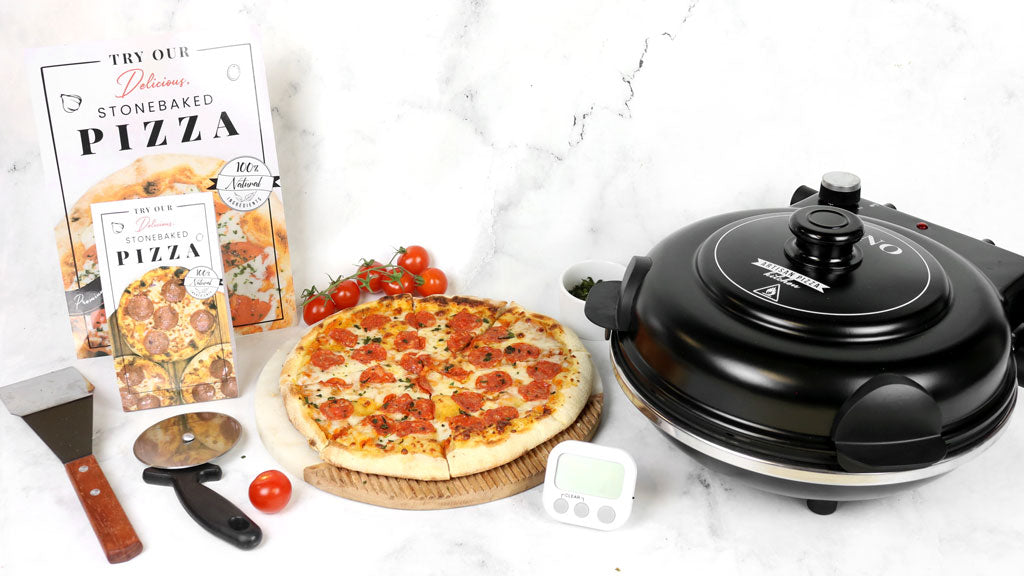 Pizza, oven and cooking tools