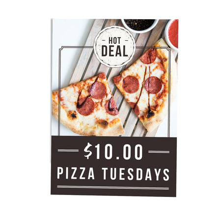 10 DOLLARS TUESDAY PIZZA DEAL POSTER POS