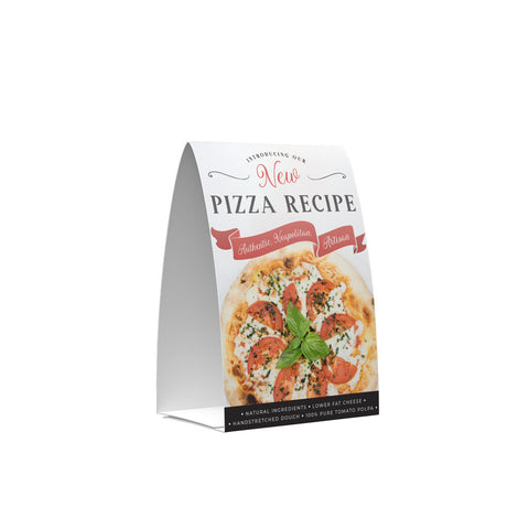 NEW PIZZA RECIPE POS COLLECTION TENT CARD