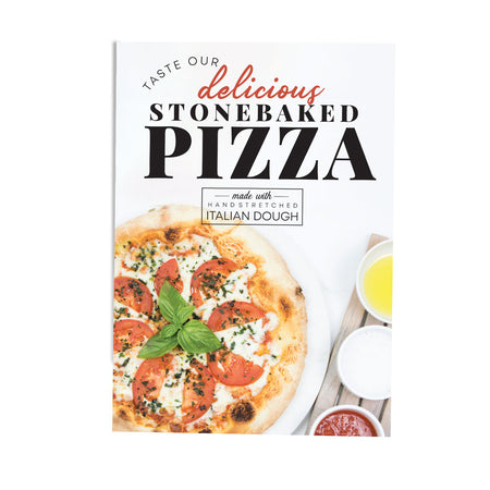 STONE BAKED MARGHERITA PIZZA POS COLLECTION POSTER DESIGN