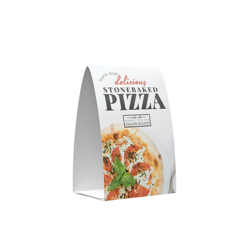 STONE BAKED MARGHERITA PIZZA POS COLLECTION TENT CARD