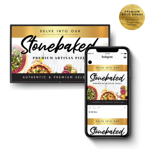 Stone Baked Pizza Digital Duo - Premium Gold