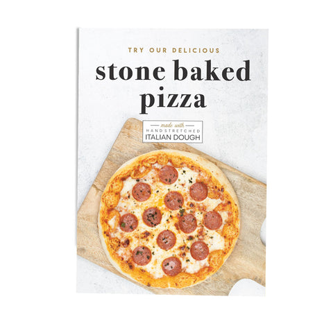 Stone Baked Pizza Awareness Poster