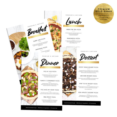 Daily Pizza Menu Set - Premium Gold