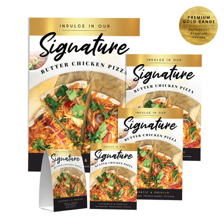 Signature Butter Chicken Pizza Collection - Premium Gold