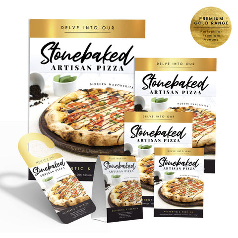 Stone Baked Pizza Collection - Premium Gold