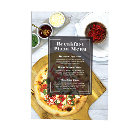 BREAKFAST PIZZA MENU DESIGN POS