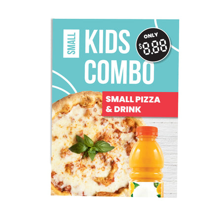 KIDS COMBO PIZZA MEAL POSTER POS