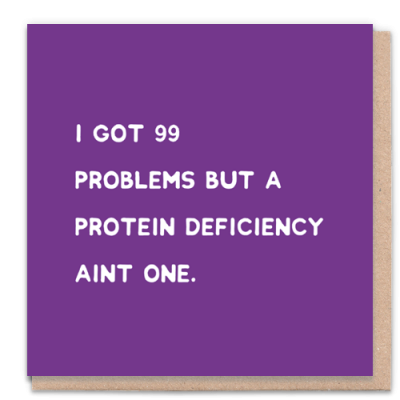 Greeting card got 99 problems