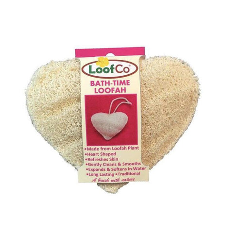 Bath time loofa heart