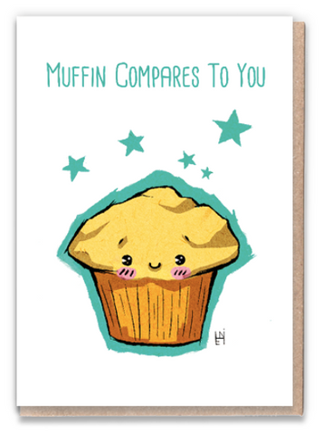 Muffin Compares Greeting Card