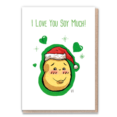 Greeting Card I Love You Soy Much - Xmas