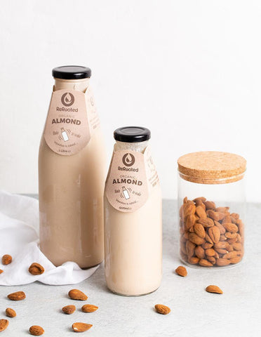 Rerooted almond milk