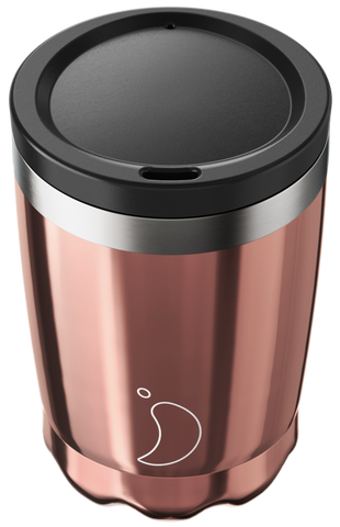 340ml Chrome Rose Gold Coffee Cup