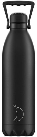 1.8L Monochrome All Black Chilly's Bottle