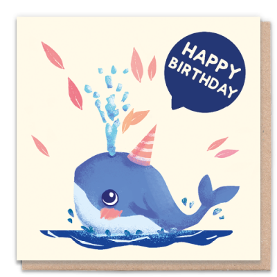 Greeting Card - Happy Birthday Whale