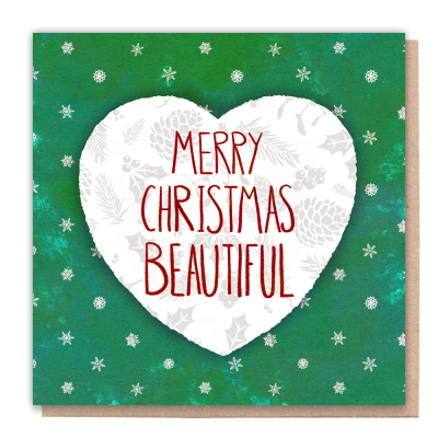 Greeting Card Merry Christmas Beautiful