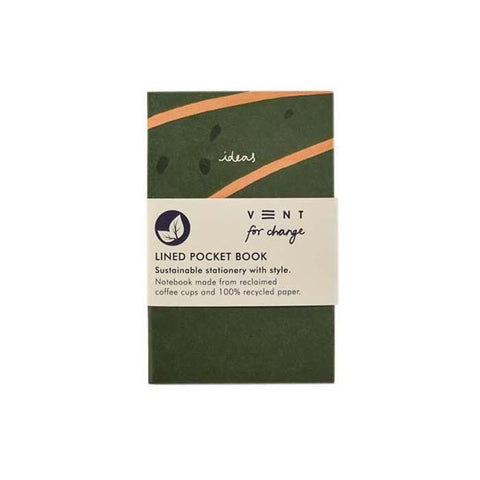 'Ideas' Lined Pocket Notebook - Green