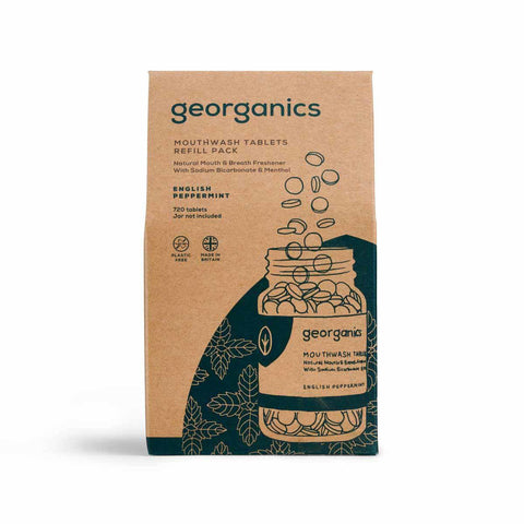 Georganics Mouthwash Tablets - English Peppermint - 720 tablets