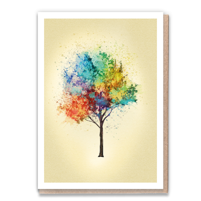 Greeting Card Rainbow Ash