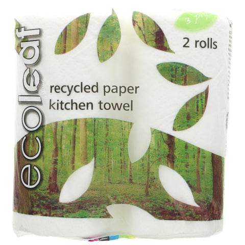 Recycled Paper Kitchen Towels x2 Rolls