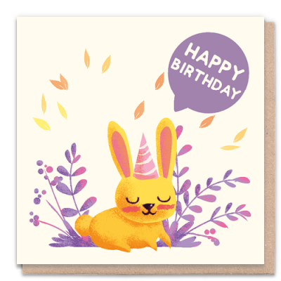 Greeting Card - Happy Birthday Rabbit