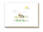 Thank You Greeting Card- Cow