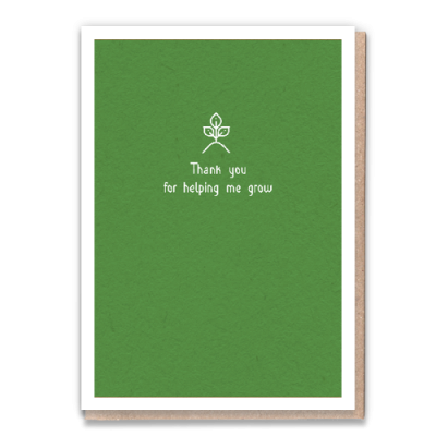 Greeting Card - Helping Me Grow