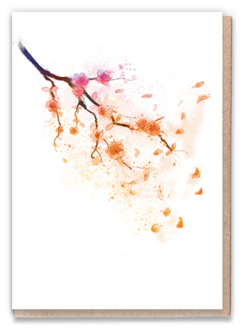Sunset Blossom Greeting Card