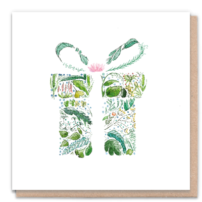 Greeting Card Green Gift