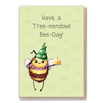 Greeting Card - Bee-day