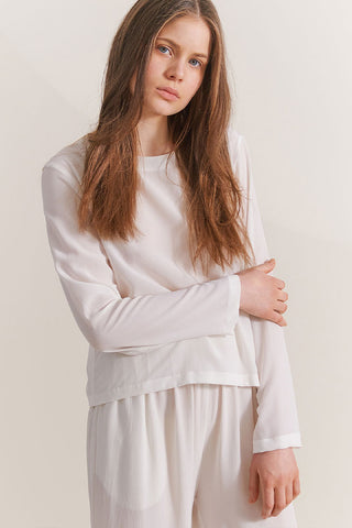 White blouse for sustainable loungewear