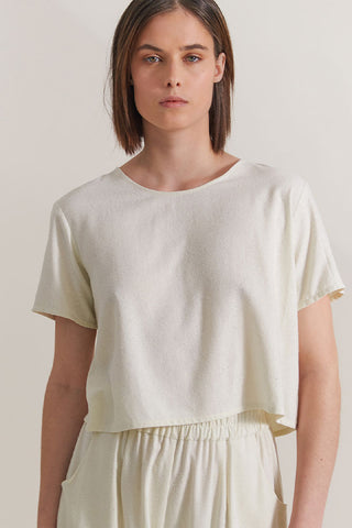 Silk top for luxury loungewear