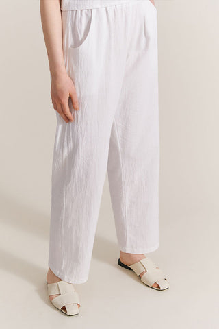 White cotton pants by AVMM