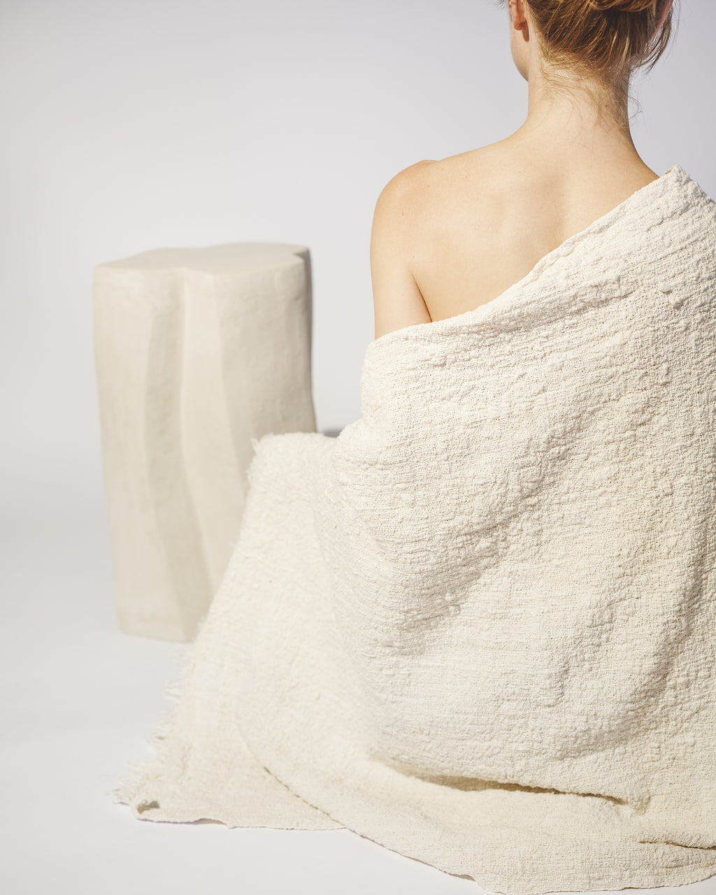 Handwoven Shawl - Natural