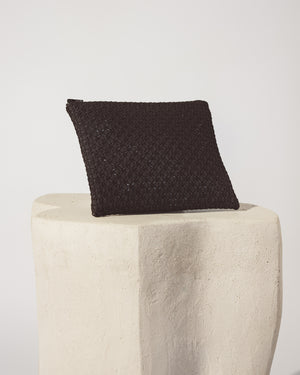 Basket Weave Vanity Pouch