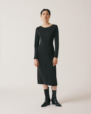 Long-sleeve Panel Dress