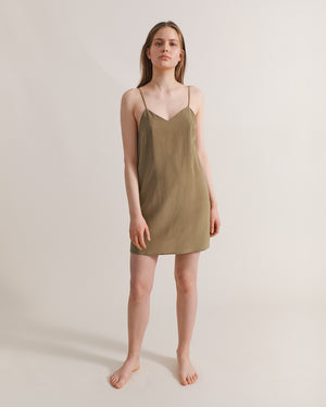 Selene Slip Dress - Sage
