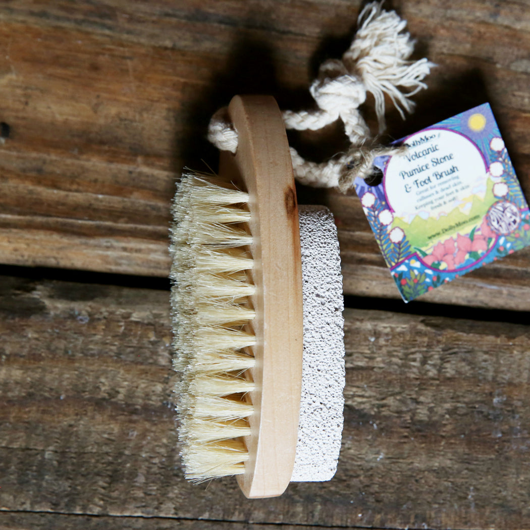Volcanic Pumice Stone & Foot Brush