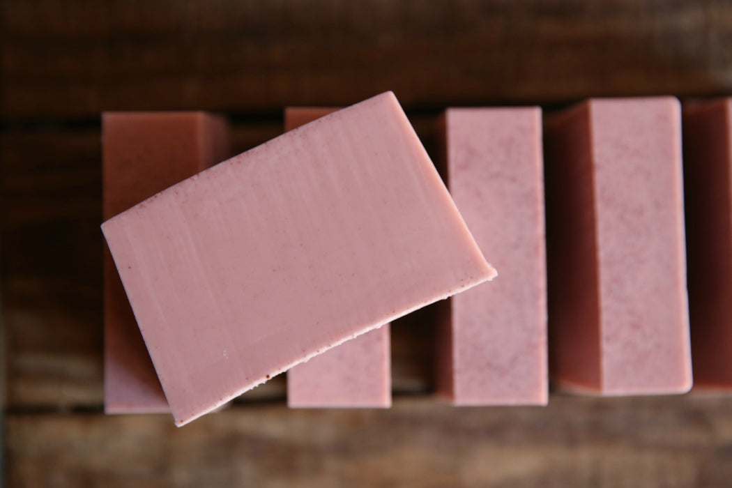 Pomegranate Cider& Rose Clay Shea Butter Soap