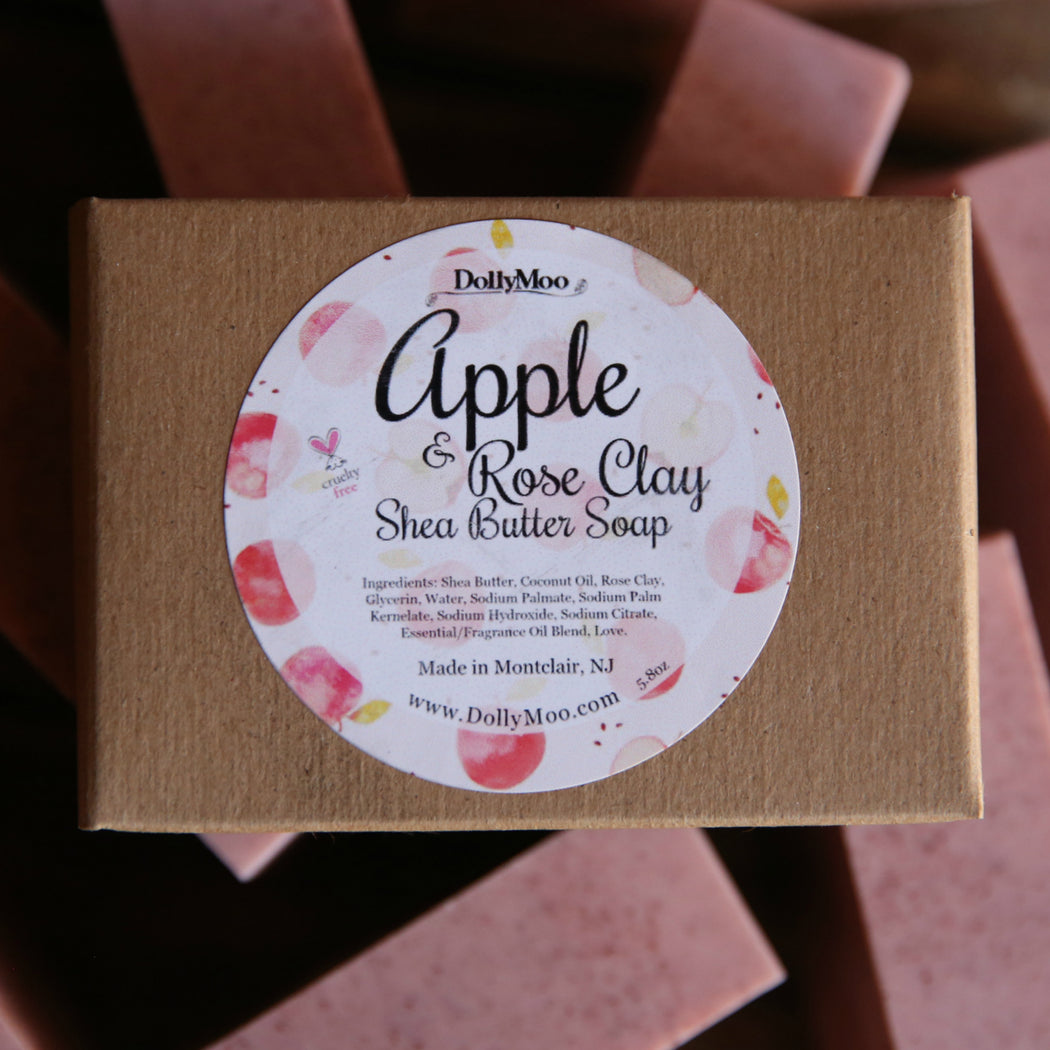 Apple & Rose Clay Shea Butter Soap