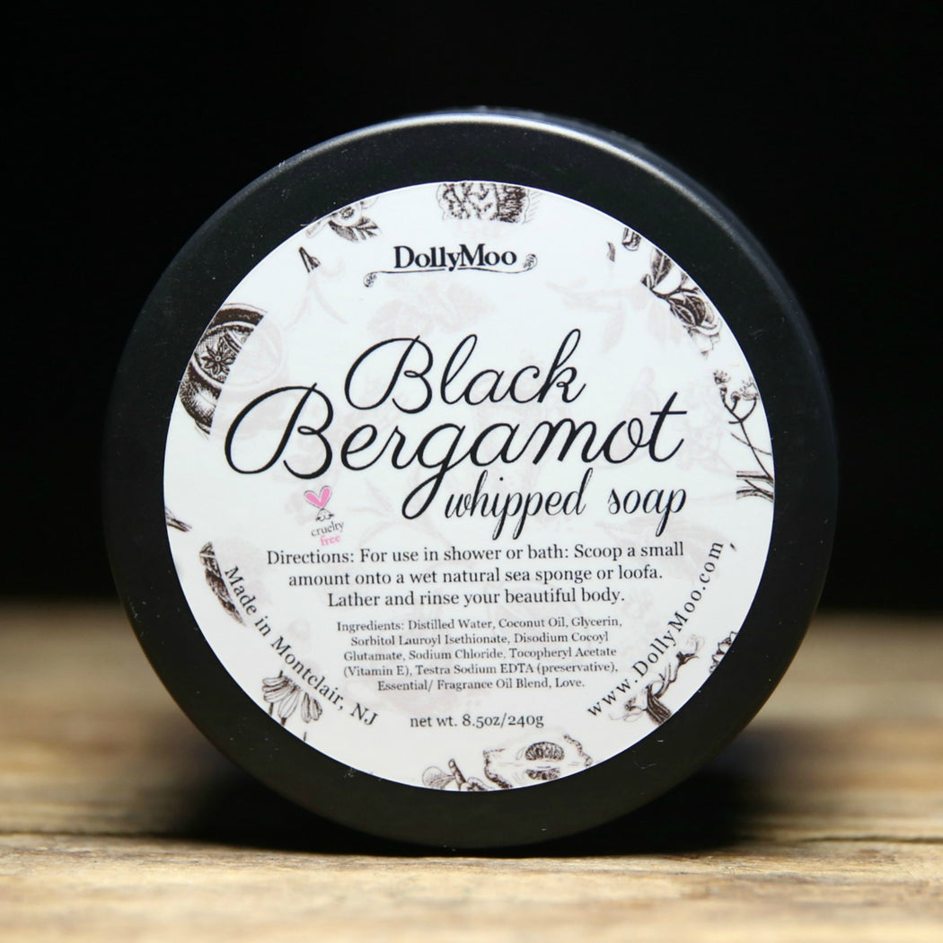 Black Bergamot Whipped Soap