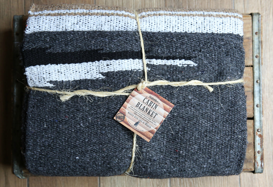 Charcoal Cabin Blanket