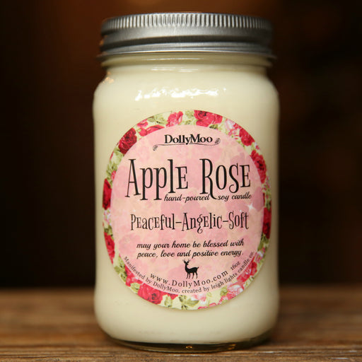 Apple Rose Candle